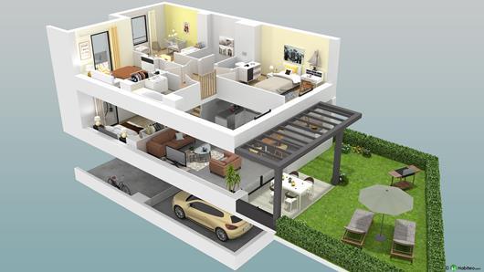 vue 3D maison neuve Reignier-Esery 4807-promotion