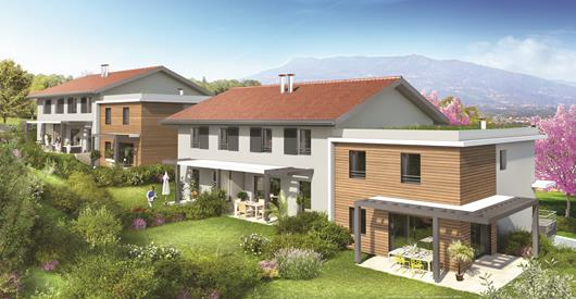 maison neuve 74930 Reignier-Esery façades